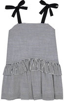 DINUI Striped Cotton Dress