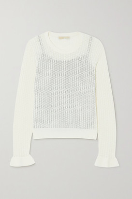 MICHAEL Michael Kors Crotchet-knit Top - White