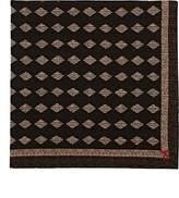 Isaia Men's Diamond-Print Wool-Silk Pocket Square