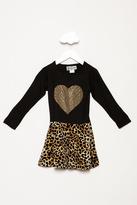Dori Creations Heart Leopard Print Dress