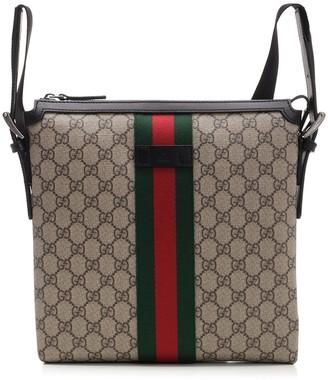 Gucci GG Supreme Web Messenger Bag