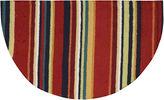 Nourison Stripes Washable Wedge Rug