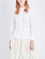 Sacai Lace-reverse poplin shirt
