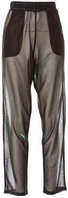 Andrea Crews Green Synthetic Trousers