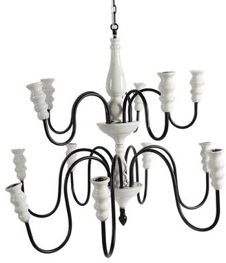 A&B Home 12-Light Candle Style Tiered Chandelier