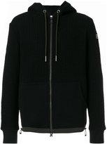 Moncler waffle knit zipped hoodie - men - Cotton/Polyamide/Polyester/Lyocell - S
