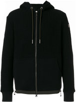Moncler waffle knit zipped hoodie