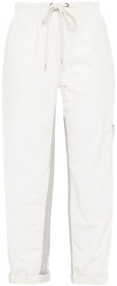 James Perse Cropped Crinkled Cotton-blend Poplin Tapered Pants