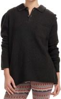 Inhabit Two-Button Sweater - Merino Wool Blend (For Women)