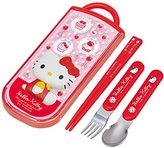 Hello Kitty Cutlery Set (Child-sized Spoon & Fork & Chopstick)