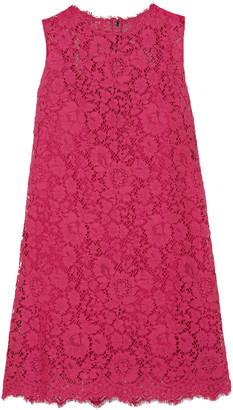 Dolce & Gabbana Cotton-blend Lace Mini Dress