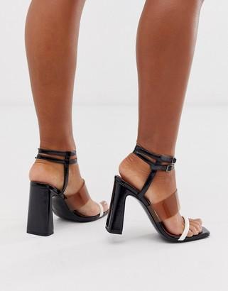Asos Design DESIGN Native triple strap block heeled sandal
