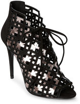 Pierre Hardy Black & Pink Gold Laser-Cut Caged Lace-Up Sandals