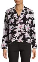 Vero Moda Floral-Print Button-Down Shirt