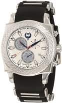 Brillier Men's 01.4.4.4.11.1 Chronograph Method Air White Dial Black Rubber Watch