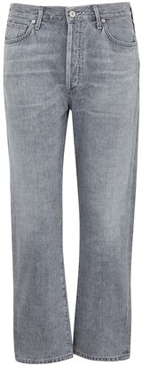 Citizens of Humanity McKenzie Light Grey Straight-leg Jeans