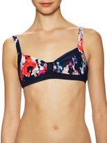 Kate Spade Printed Bralette with Hook Closure