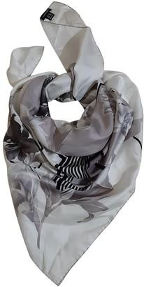Leonard White Silk Scarves