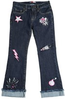 MSGM Embroidered Patches Stretch Denim Jeans