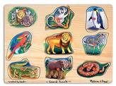 Melissa & Doug ; Zoo Sound Puzzle - Wooden Peg Puzzle With Sound Effects ...