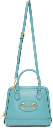 Gucci Blue Small 1955 Horsebit Top Handle Bag