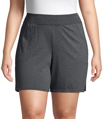 Just My Size Plus Size Pocket Jersey Shorts
