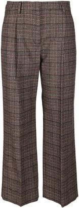 Lardini Grey And Brown Wool Blend Trousers