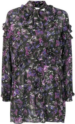 IRO Printed Pussy Bow Dress
