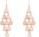 Latelita Erviola Gemstone Cascade Earring Rose Gold Rose Quartz