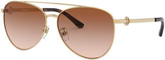 Tory Burch Metal Aviator Sunglasses
