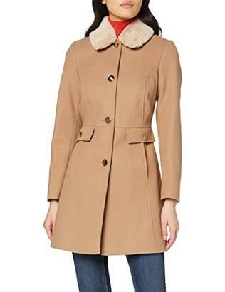 Dorothy Perkins Women's Fur Collar Dolly Camel. Coat, Brown (Light Brown 5), (Size:)
