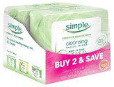 Simple Cleansing Facial Wipes Kind to Skin 25 ct, Twin Pack