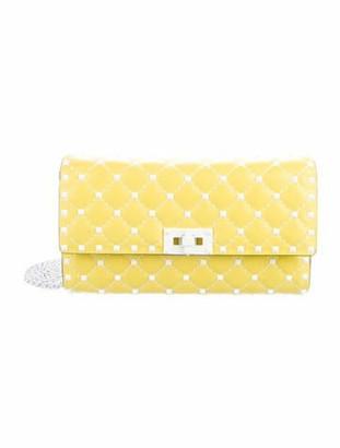 Valentino Rockstud Spike Wallet on Chain Yellow