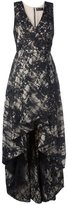 Alice + Olivia Alice+Olivia - v neck high low dress - women - Polyester/Spandex/Elastane - 4