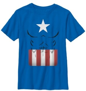 Fifth Sun Marvel Big Boy's Captain America Simple Suit Short Sleeve T-Shirt