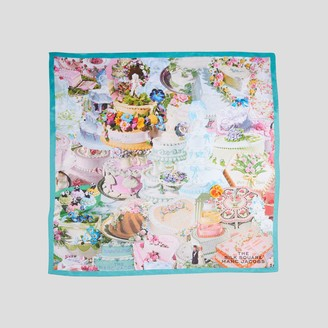Marc Jacobs The Cake Collage Silk Square Scarf