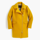 J.Crew Petite zippered coat in stadium-cloth
