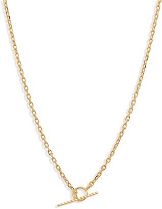 Adina's Jewels Thin Chain Toggle Necklace