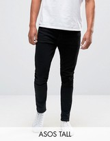 Asos Tall Super Skinny Jeans In Black