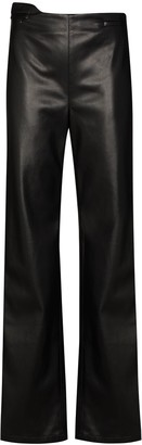 Commission High-Waist Shine-Effect Trousers