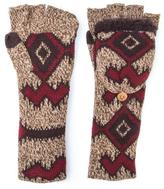 Muk Luks Women's Long Tribal Flip Mittens