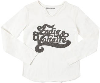 Zadig & Voltaire Printed L/s Cotton Jersey T-shirt
