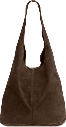 Caspar TL767 Women's Large Suede Leather Shopper Bag