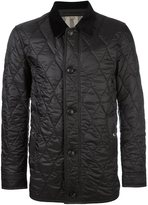 Burberry quilted zipped jacket