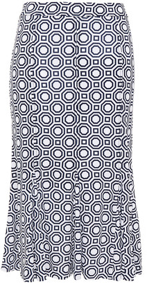 Tory Burch Jada Printed Jersey Skirt