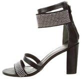 Rebecca Minkoff Leather Embellished Ankle Strap Sandals