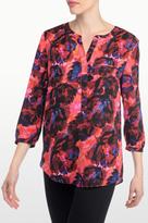 NYDJ Carmine Promise Print 3/4 Sleeve Blouse In Petite
