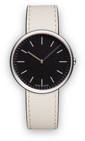 Uniform Wares M35 Women's two-hand watch in polished steel with mist textured calf leather strap