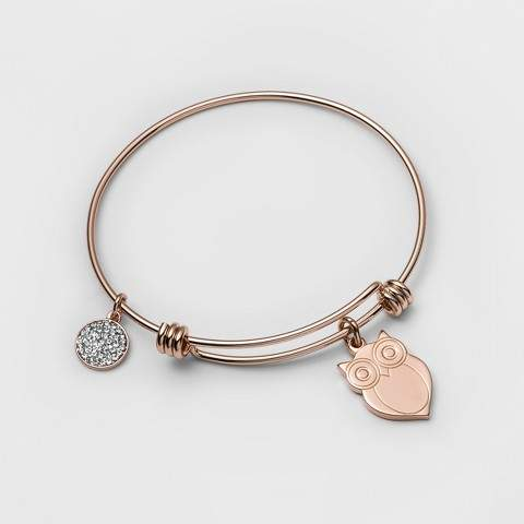 937dfa80f88b1 Distributed by Target Stainless Steel Owl you need is love Bangle Bracelet  (8