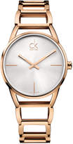 Calvin Klein Women's Swiss Stately Rose Gold-Tone Pvd Stainless Steel Bracelet Watch 34mm K3G23626